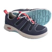 Chaco Zanda Shoes (For Youth Boys and Girls) in Coral Pink/Blue - Closeouts