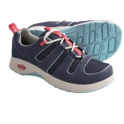 Chaco Zanda Shoes (For Youth Boys and Girls) in Coral Pink/Blue