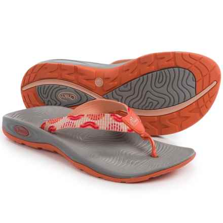 Chaco Z/Volv Flip-Flops (For Women) in Bars Rouge - Closeouts