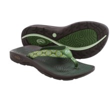 Chaco Z/Volv Flip-Flops (For Women) in Water Lilly - Closeouts