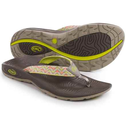 Chaco Z/Volv Flip-Flops (For Women) in York Citrus - Closeouts