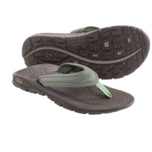 Chaco Z/Volv Flip Synth Flip-Flops (For Men) in Grape Leaf - Closeouts