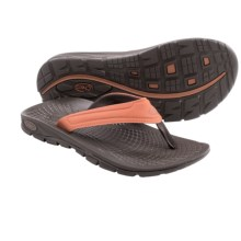Chaco Z/Volv Flip Synth Flip-Flops (For Men) in Umber - Closeouts