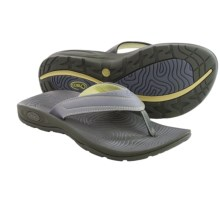 Chaco Z/Volv Flip Synth Sandals (For Women) in Gunmetal - Closeouts
