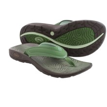Chaco Z/Volv Flip Synth Sandals (For Women) in Vineyard Green - Closeouts
