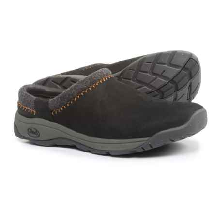 Chaco Zealander Clogs - Leather (For Men) in Black - Closeouts