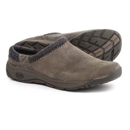 Chaco Zealander Clogs - Leather (For Men) in Dark Sand - Closeouts
