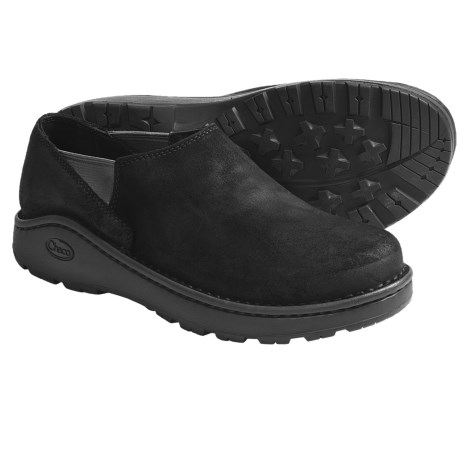 Chaco Zoggonit Shoes - Leather, Slip-Ons (For Men) in Black