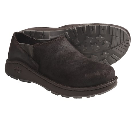 Chaco Zoggonit Shoes - Leather, Slip-Ons (For Men) in Chocolate Brown