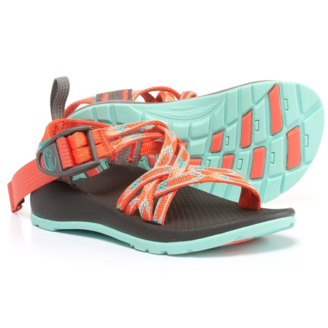 Chaco ZX/1 Sport Sandals (For Little and Bid Kids) in Zigzag Coral