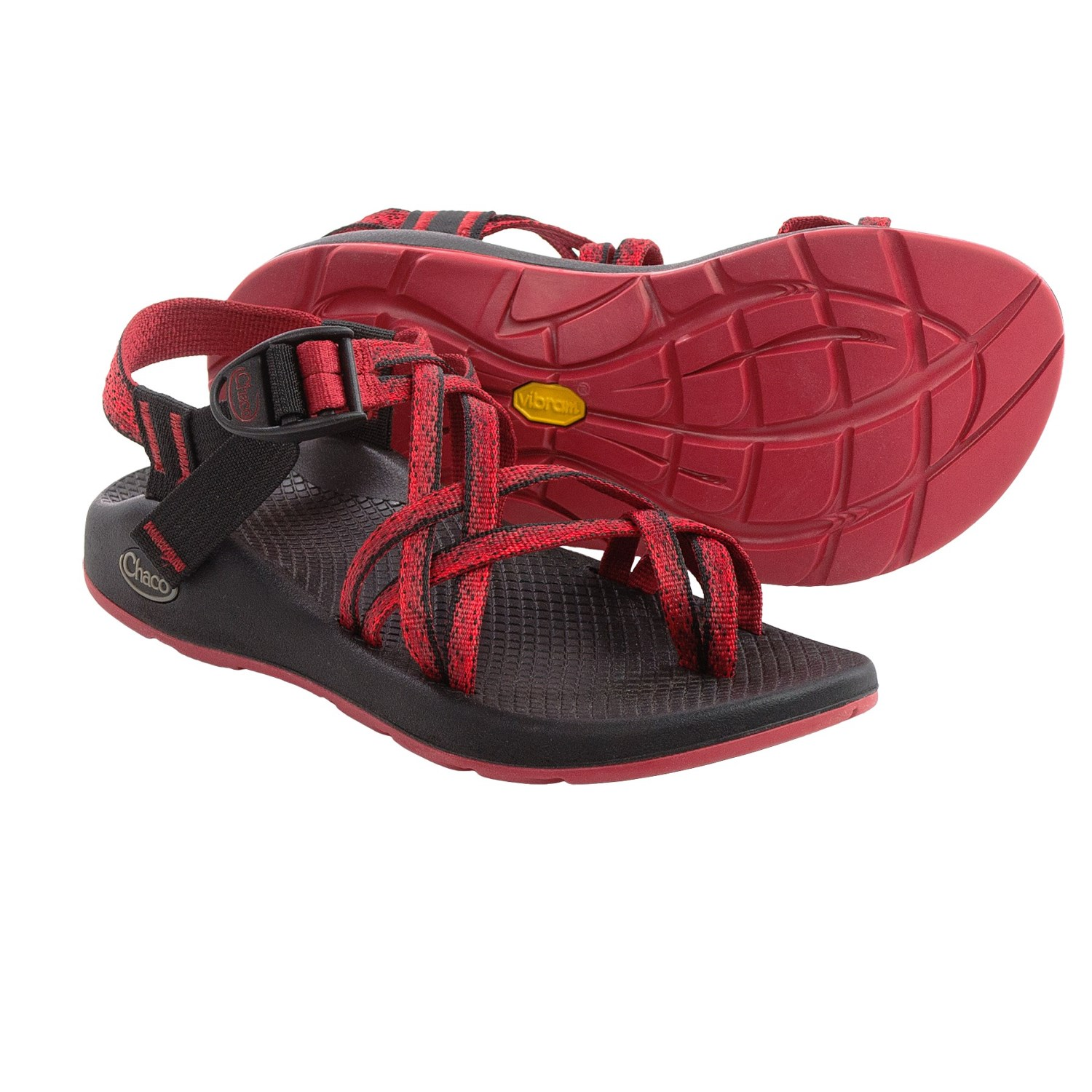 Beautiful Good Closet CHACO UNAWEEP ECOTHREAD RED WOMENS SANDALS WOMENS SIZE 8