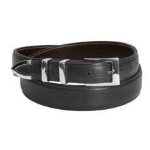 Chacon Trinidad Smooth Calf Belt - Sterling Silver Buckle (For Men) in Black - Closeouts