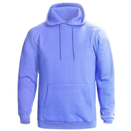 Champion 50/50 Hooded Sweatshirt - Pullover, 9 oz. (For Men and Women) in Light Blue