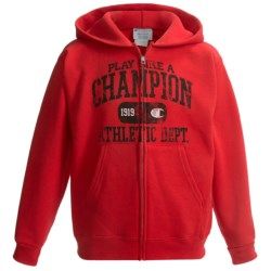 Champion 50/50 Printed Zip Hoodie (For Boys) in Red