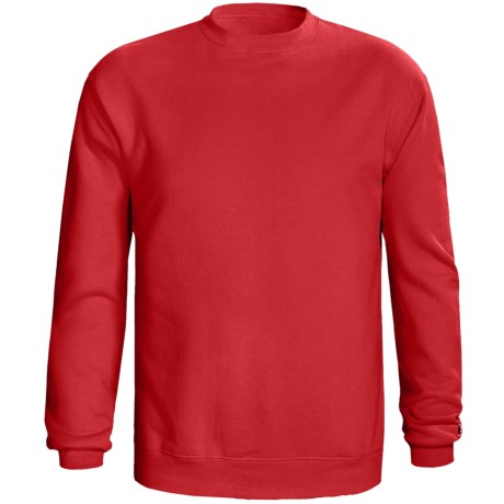 Champion 50/50 Sweatshirt - Long Sleeve (For Men and Women) in Red