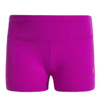 Champion Active Shorts - Stretch Nylon (For Big Girls) in Raspberry Shock - Closeouts