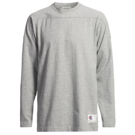 Champion Authentic Athletic Apparel Heavyweight Shirt - Crew Neck, Long Sleeve (For Men) in Grey Heather