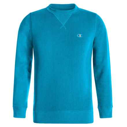 Champion Authentic Fleece Sweatshirt (For Big Boys) in Energy Blue - Closeouts