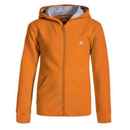 Champion Authentic Zip Hoodie (For Big Boys) in Vibrant Orange - Closeouts