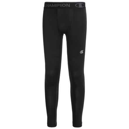 Champion Base Layer Pants (For Little and Big Boys) in Black - Closeouts