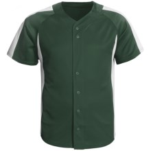 Champion Baseball Shirt - Short Sleeve (For Men and Women) in Green/White - 2nds