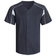 Champion Baseball Shirt - Short Sleeve (For Men and Women) in Navy/White - 2nds
