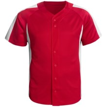Champion Baseball Shirt - Short Sleeve (For Men and Women) in Red/White - 2nds