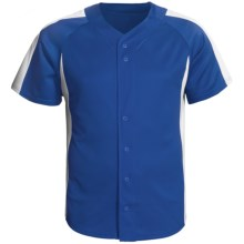 Champion Baseball Shirt - Short Sleeve (For Men and Women) in Royal/White - 2nds