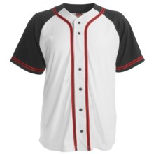 Champion Baseball Shirt - Short Sleeve (For Men and Women) in White/Black - 2nds