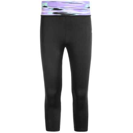Champion Basic Capris (For Big Girls) in Black/Racing Streak - Closeouts