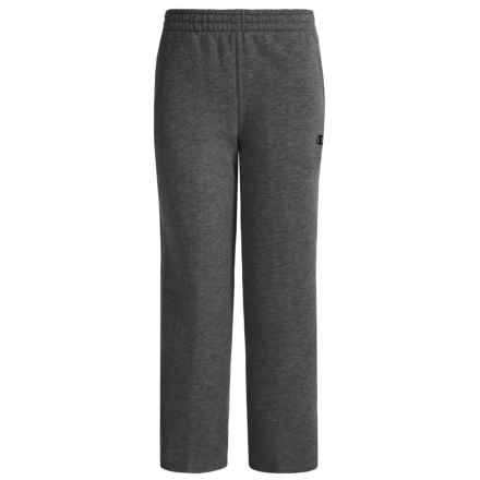 Champion Basic Core Fleece Pants (For Big Boys) in Granite Heather - Closeouts