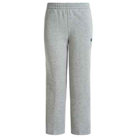 Champion Basic Core Fleece Pants (For Big Boys) in Oxford Heather - Closeouts