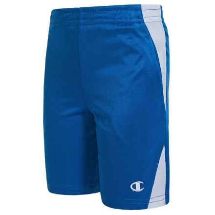 Champion Boy Gym Shorts (For Little Boys) in Team Blue/White - Closeouts