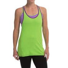 Champion Burnout Back Tank Top - Racerback (For Women) in Aurora Green/Tripping Purple - Closeouts