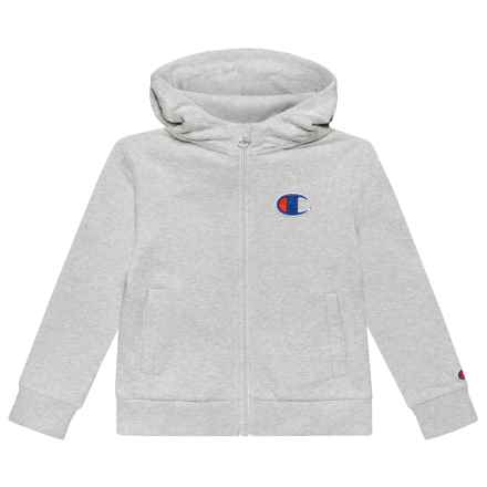 Champion C Patch Hoodie - Full Zip (For Toddler and Little Girls) in Oxford Heather - Closeouts