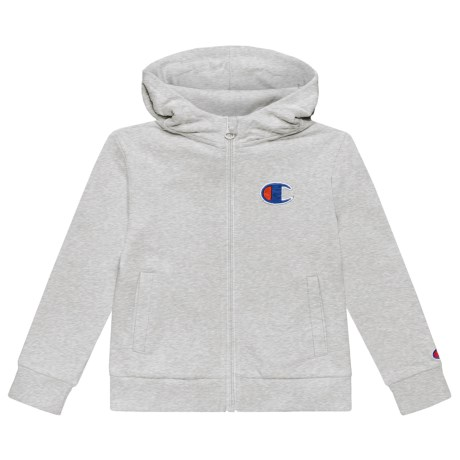 Champion C Patch Hoodie - Full Zip (For Toddler and Little Girls) in Oxford Heather