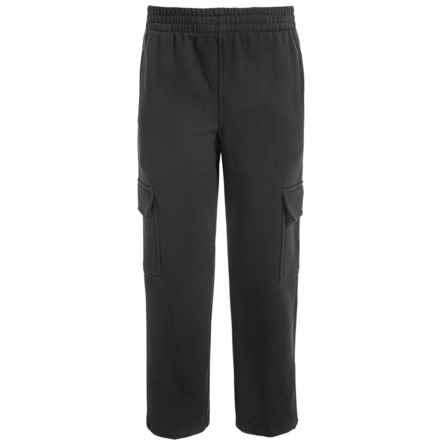 Champion Cargo Fleece Sweatpants (For Big Boys) in Black - Closeouts
