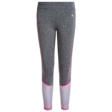 Champion Cold Gear Active Leggings (For Big Girls) in Granite Heather/Pink Glow - Closeouts