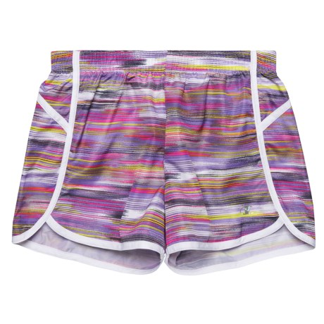 Champion Color-Block Running Shorts - Built-In Brief (For Big Girls) in Ombre Multi Color