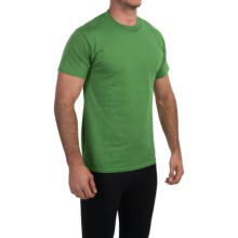 Champion Cotton Jersey T-Shirt - Short Sleeve (For Men) in Rainforest Heather - Closeouts