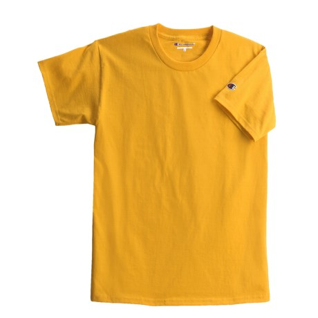 Champion Cotton Jersey T-Shirt - Short Sleeve (For Youth) in Gold