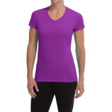 Champion Cotton Jersey T-Shirt - V-Neck, Short Sleeve (For Women) in Tripping Purple - Closeouts