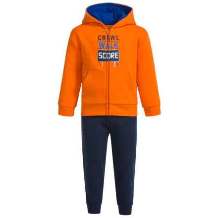 Champion Crawl Walk Score Sweat Set (For Infant Boys) in Vibrant Orange/Navy - Closeouts