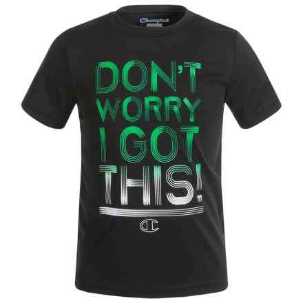 Champion Don't Worry I Got This Graphic T-Shirt - Short Sleeve (For Little Boys) in Black - Closeouts