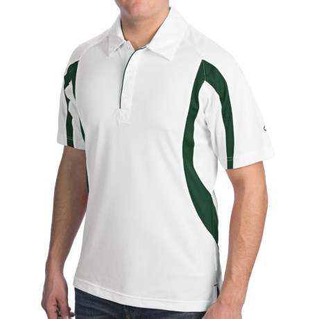 Champion Double Dry Polo Shirt - Short Sleeve (For Men and Women) in White/Green