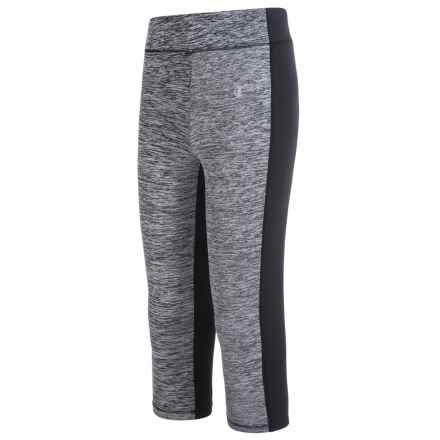 Champion Forward Seam Capris (For Big Girls) in Black Heather/Black - Closeouts