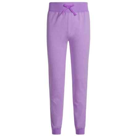 Champion French Terry Joggers (For Big Girls) in Raspberry Shock Heather/Chroma Blue - Closeouts