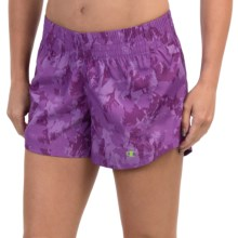 Champion Go-To Print Shorts (For Women) in Tripping Purple Shattered Clouds - Closeouts