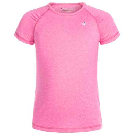 Champion Heather Raglan T-Shirt - Short Sleeve (For Toddler and Little Girls) in Sugar Plum Heather - Closeouts