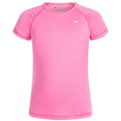Champion Heather Raglan T-Shirt - Short Sleeve (For Toddler and Little Girls) in Sugar Plum Heather
